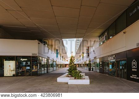 Milan, Italy - May 2021: View Of The Modern Shopping Center In The Citylife District Of Milan