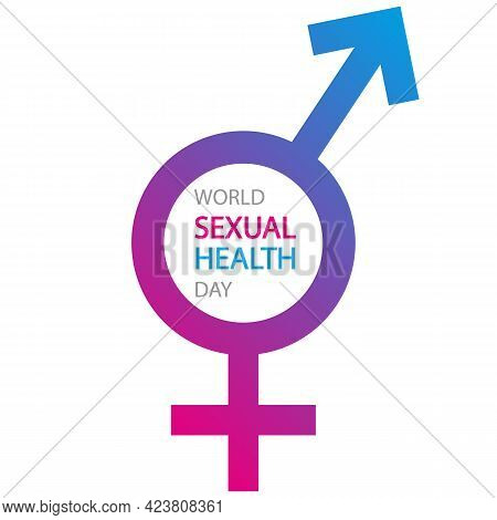 World Sexual Health Day Banner With Male And Female Gender, Vector Art Illustration.