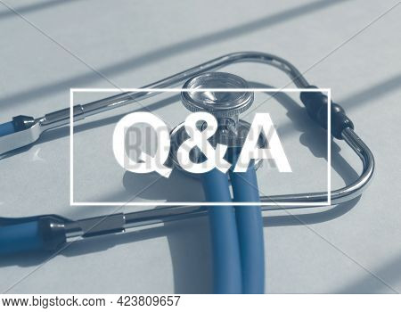 Qna Acronym. Medical Qa Concept. Questions And Answers In Medicine.