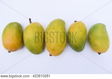Delicious And Fresh Kesar Mango Variety From India, Grown In Gir District Gujarat. Aromatic Flavour
