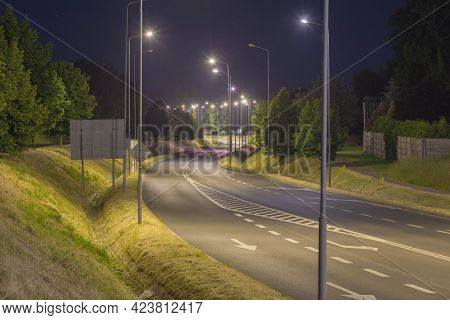 The City Of Zagan Is Located In Western Poland. The Photo Shows A View Of The Beltway On The Outskir
