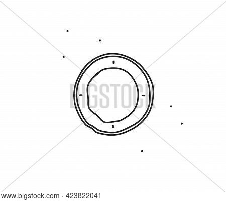 Hand Drawn Vector Abstract Stock Flat Graphic Illustration With Logo Element Of Line Circle Frame Li