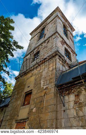 Bougszow-gorce, Poland - July 7 2020: Tower Of Pentecostal Church