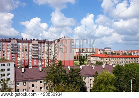 Residential District In Kaliningrad (russia). Leningradsky District.