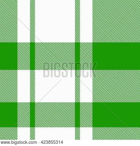 Green Asymmetric Plaid Textured Seamless Pattern