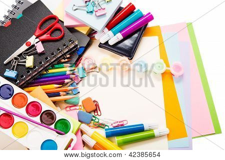 School and office stationary. Back to school concept