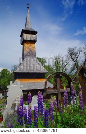 Ieud Hill wooden monastery and its graveyard, the oldest wood church in Maramures, Romania, Europe - UNESCO Heritage