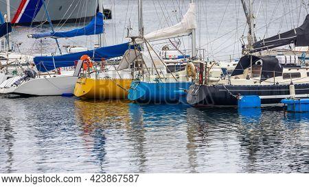 Icelandic fishing boats at dock near Reykjavik, Iceland