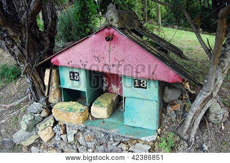 Old Metal Mail Box