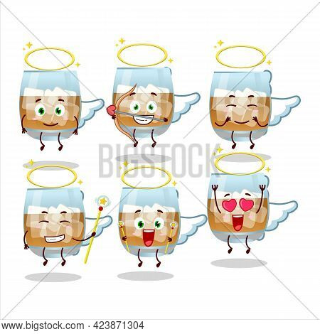 Rum Drink Cartoon Designs As A Cute Angel Character