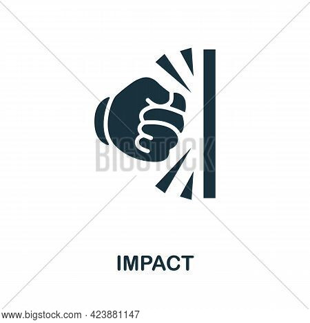 Impact Icon. Simple Creative Element. Filled Monochrome Impact Icon For Templates, Infographics And