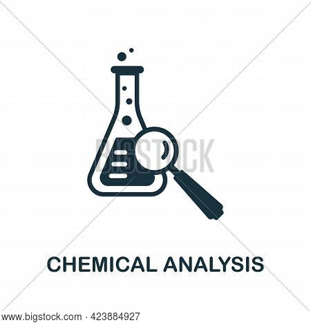 Chemical Analysis Icon. Monochrome Simple Element From Oil Industry Collection. Creative Chemical An