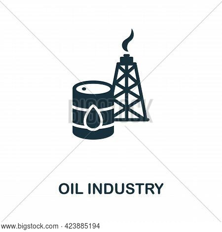 Oil Industry Icon. Monochrome Simple Element From Oil Industry Collection. Creative Oil Industry Ico