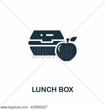 Lunch Box Icon. Monochrome Simple Element From Packaging Collection. Creative Lunch Box Icon For Web