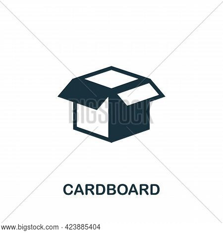 Cardboard Icon. Monochrome Simple Element From Packaging Collection. Creative Cardboard Icon For Web