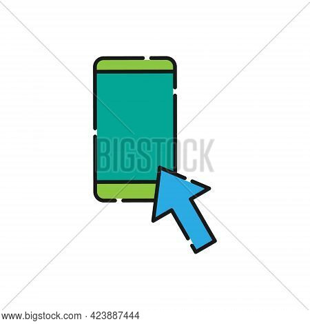 Mobile Phone with Arrow icon. Mobile Phone icon. Phone icon. Mobile Phone vector. Mobile icon. Phone vector. Mobile Phone icon vector. Mobile Phone icon logo. Phone symbol. Mobile Phone icon vector design for web icon, logo, sign, symbol, app