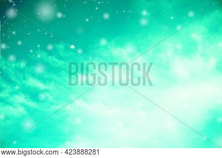 Blurred Colorful Background Sky With Flare White Lucent Lights Blurry