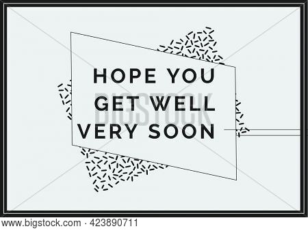 Composition of well wishes text with in black frame on white background. get well wishes and communication concept digitally generated image.