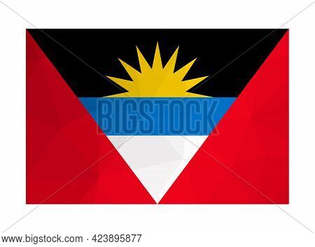 Vector Isolated Illustration. National Flag And Official Symbol Of Antigua And Barbuda. Creative Des