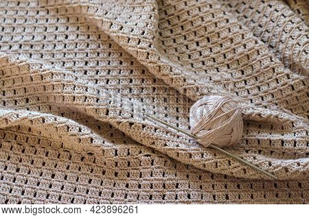 Handmade Crocheted With White Cotton Threads.