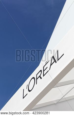 Villefontaine, France - May 24, 2018: L'oreal Logo On A Building. L'oreal Is A French Personal Care