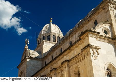 Croatia, City Of Sibenik, Panorama View Of The Cathedral Of St James, Most Important Architectural M
