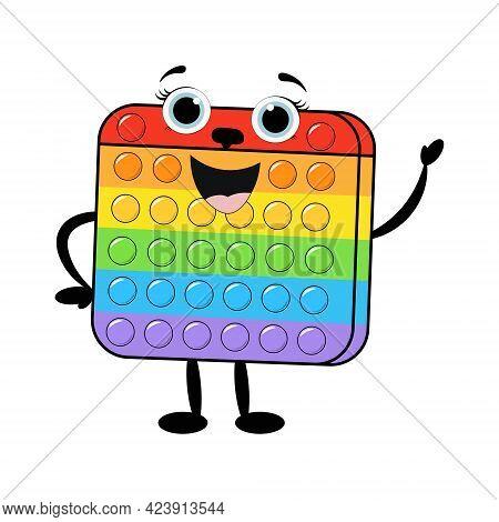 Rubber Toy Antistress Pop It.popular Children's Toy. åmong As, Simple Dimple , Pop It
