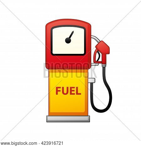 Gas Station Fuel Pump Isolated Cartoon Vector Icon