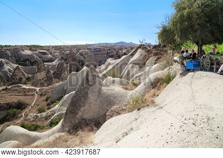 Goreme, Turkey - October 4, 2020: This Is A View Of The Fabulous Cappadocian Valley Of Goreme From T