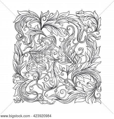 Decorative Elements In Baroque, Rococo, Victorian, Renaissance Style. Trendy Frolar Vintage Pattern.