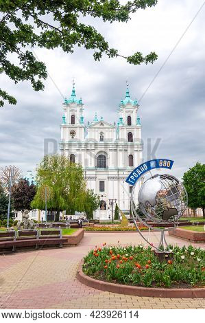 Grodno, Belarus - May 22, 2021: Cathedral Of Saint Francis Xavier In Grodno, Belarus. Farny Catholic