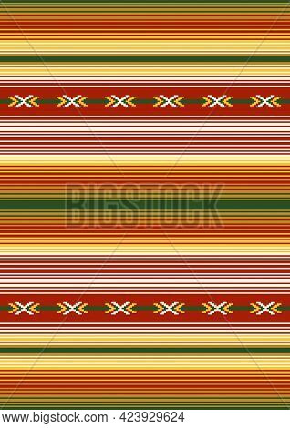 Mexican Blanket, Rug. Native Indian Ornament. Tribal Vector Seamless Pattern. Ethnic South Western D