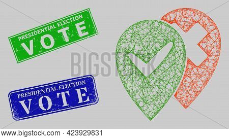 Carcass Net Place Advices Model, And Presidential Election V O T E Blue And Green Rectangle Rubber S