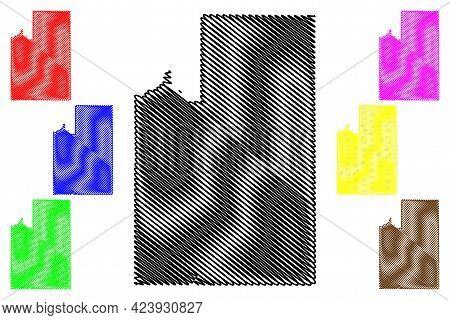 Spokane County, State Of Washington (u.s. County, United States Of America, Usa, U.s., Us) Map Vecto