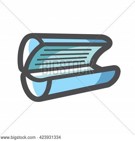 Solarium Tanning Equipment Vector Icon Cartoon Illustration