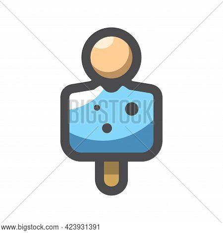 Human Target Aim Vector Icon Cartoon Illustration