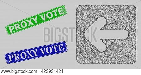 Carcass Net Mesh Left Cursor Model, And Proxy Vote Blue And Green Rectangular Rubber Seal Prints. Ca
