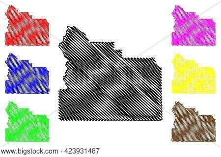 Yakima County, State Of Washington (u.s. County, United States Of America, Usa, U.s., Us) Map Vector