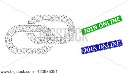 Polygonal Linkage Model, And Join Online Blue And Green Rectangular Rubber Stamp Seals. Polygonal Wi