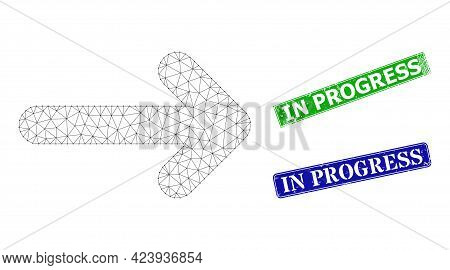 Mesh Move Right Image, And In Progress Blue And Green Rectangular Unclean Seals. Mesh Carcass Image