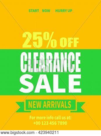 Clearance Sale Poster, Flyer Social Media Post Web Banner Design