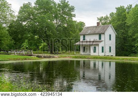 The Cheasapeak And Ohio Canal Lock Keepers House At Lock 70.