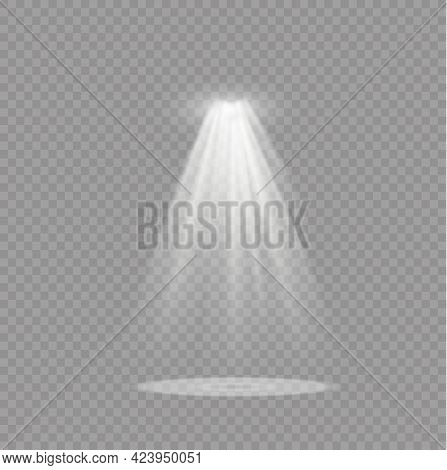 Glow White Spotlight Abstract Special Light Effect