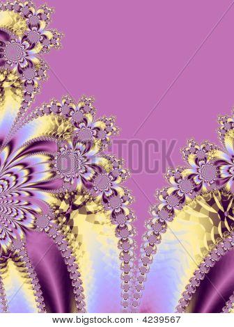 Elegant Pink Floral Fractal