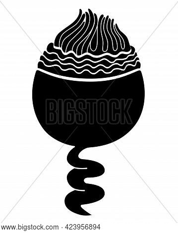 Infusoria Suvoy - Microorganism - Vector Silhouette Illustration For Logo Or Pictogram. Ciliate Is A