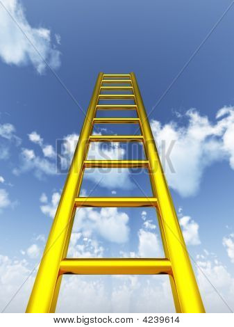 Gold Ladder In The Sky
