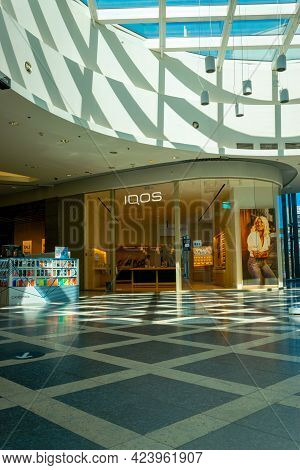 Katowice. Poland 11 May 2021. Customer Store In Silesia City Center. People Shopping In Modern Comme