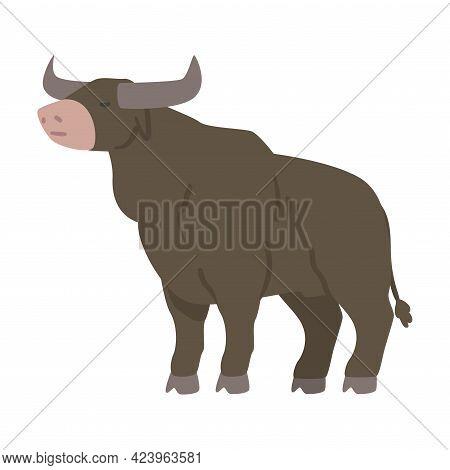 Bull Farm Animal, Livestock Concept Cartoon Vector Illustration