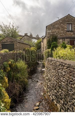 River In The Village Of Dent In The Yorkshire Dales, Uk