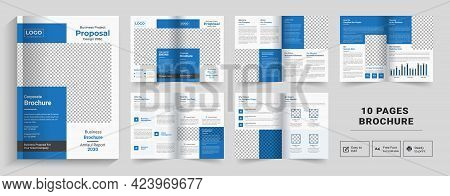Corporate Theme 10 Pages Business Company Profile Brochure Design,10 Pages Creative Business Brochur